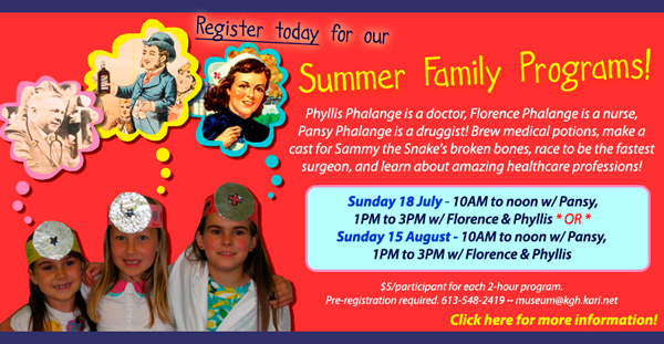 Register now - Summer 2010 Family Programs for Ages 6+
