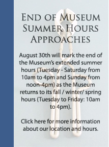 Museum Hours Banner