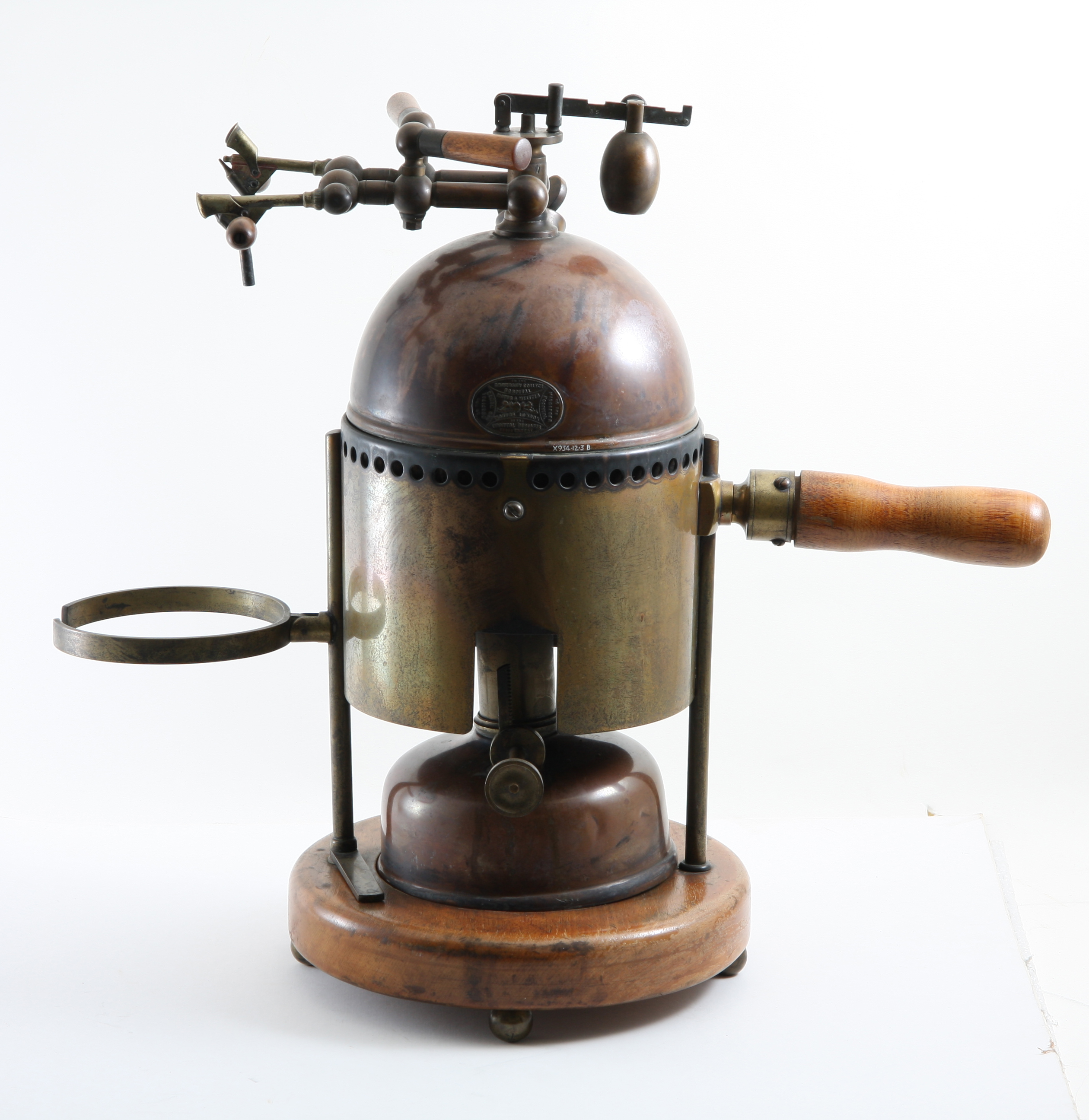 Carbolic Steam Sprayer (c.1870).  Museum of Health Care #1934.12.3