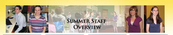 Summer Staff Overview Banner