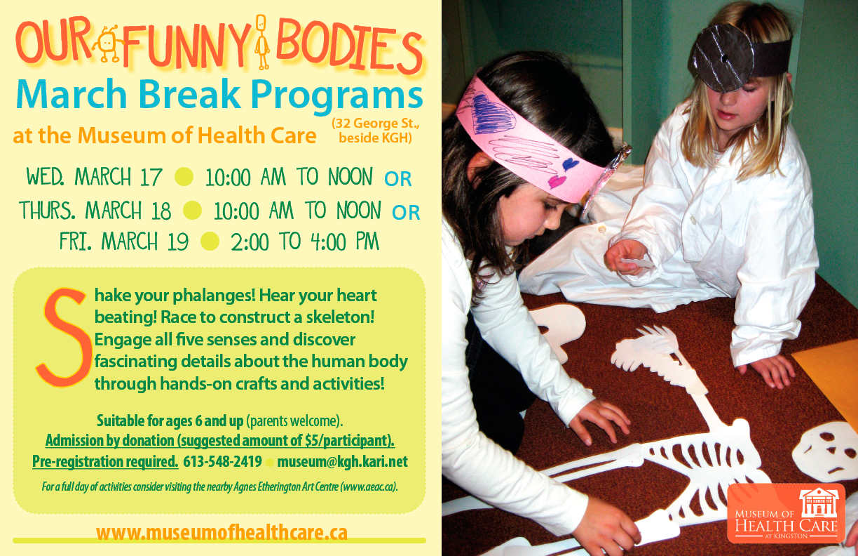 March Break Programs Poster